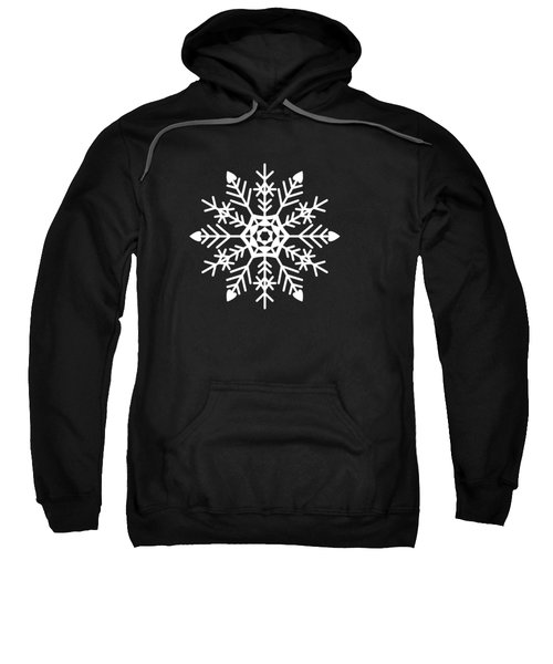Snowflakes Black And White Sweatshirt