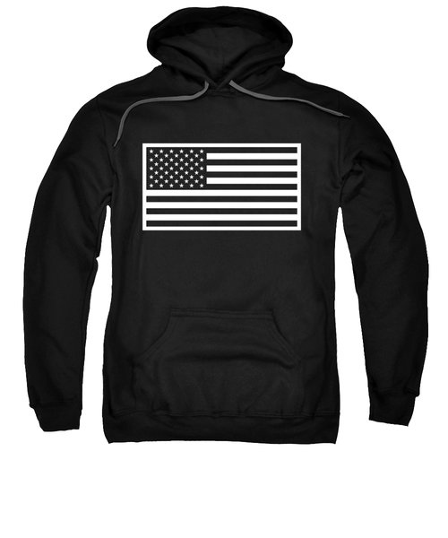 American Flag - Black And White Version Sweatshirt
