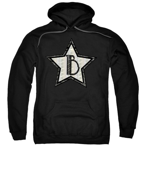 Star Of The Show Art Deco Style Letter B Sweatshirt by Cecely Bloom