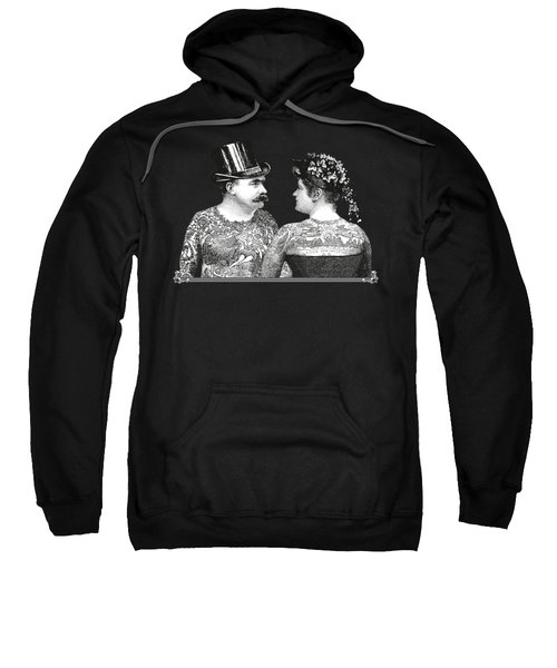 Tattooed Victorian Lovers Sweatshirt