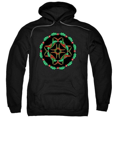 Celtic Christmas Holly Wreath Sweatshirt