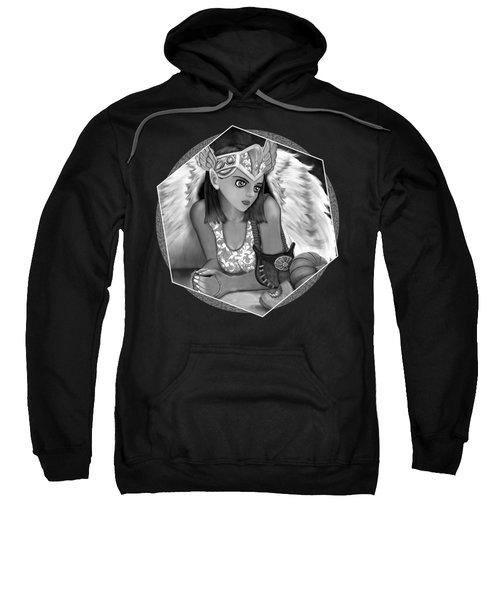 Let Me Explain - Black And White Fantasy Art Sweatshirt