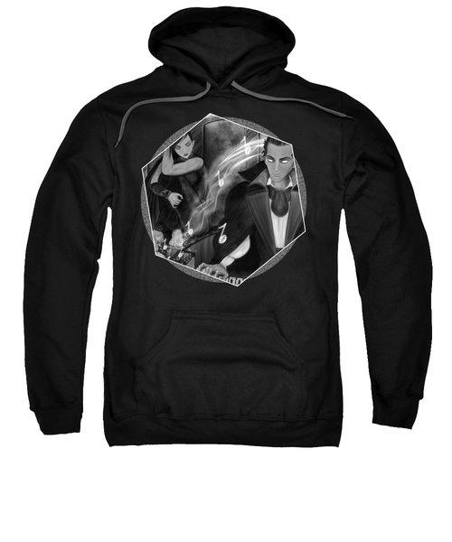 Music Is Magic - Black And White Fantasy Art Sweatshirt