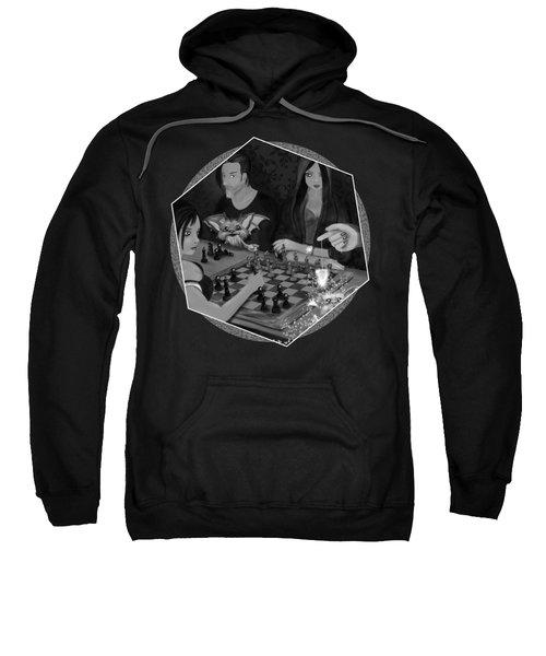 Unexpected Company - Black And White Fantasy Art Sweatshirt
