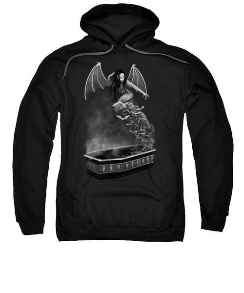 Always Awake - Black And White Fantasy Art Sweatshirt