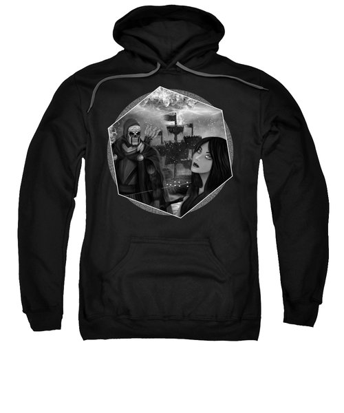 Now Or Never - Black And White Fantasy Art Sweatshirt