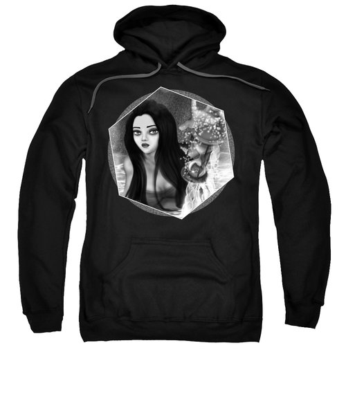 The Missing Key - Black And White Fantasy Art Sweatshirt