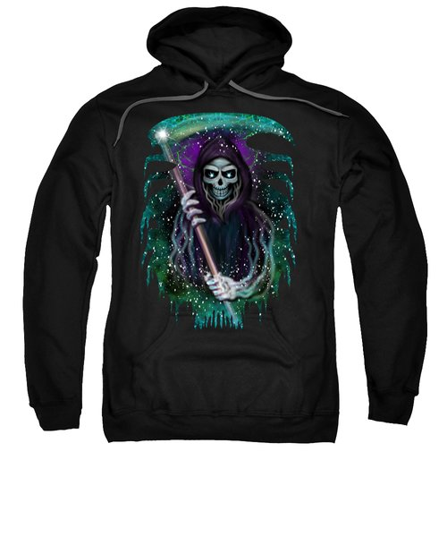 Galaxy Grim Reaper Fantasy Art Sweatshirt