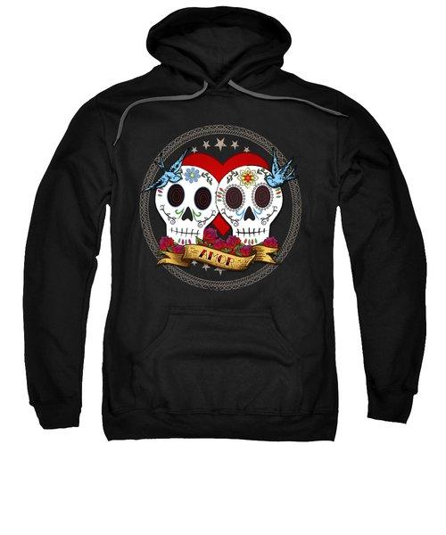 Love Skulls II Sweatshirt by Tammy Wetzel