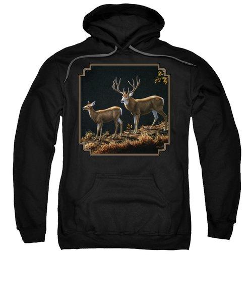 Mule Deer Ridge Sweatshirt by Crista Forest