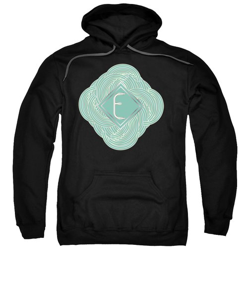 1920s Blue Deco Jazz Swing Monogram ...letter E Sweatshirt