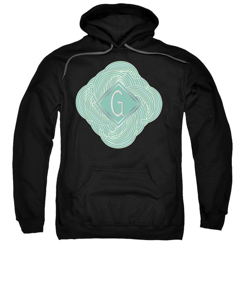 1920s Blue Deco Jazz Swing Monogram ...letter G Sweatshirt