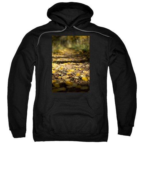Aspen Leaves On Trail Sweatshirt