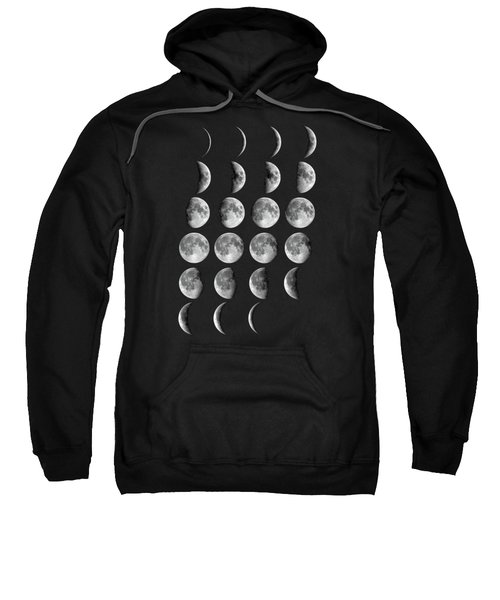Astronomy Chart, Phases Of The Moon, Lunar Chart Sweatshirt