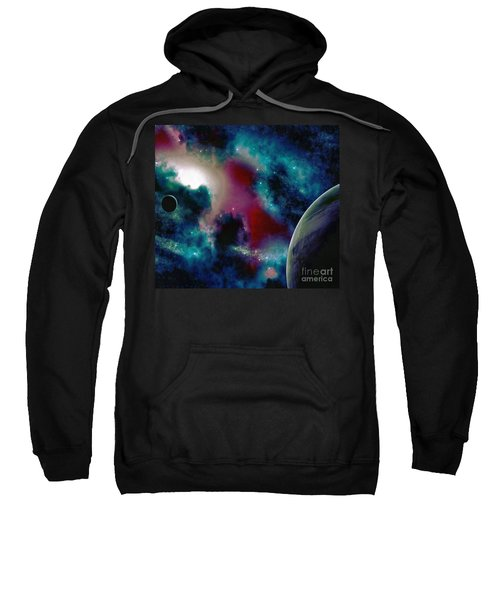 Astronomy Painting Glammed Out Teal Sweatshirt