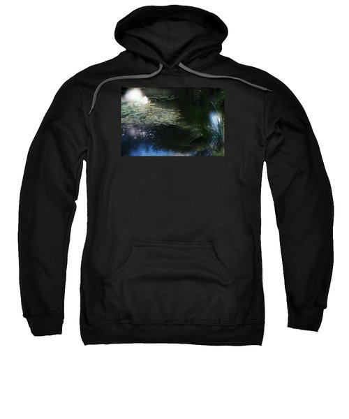 Sweatshirt featuring the photograph At Claude Monet's Water Garden 3 by Dubi Roman