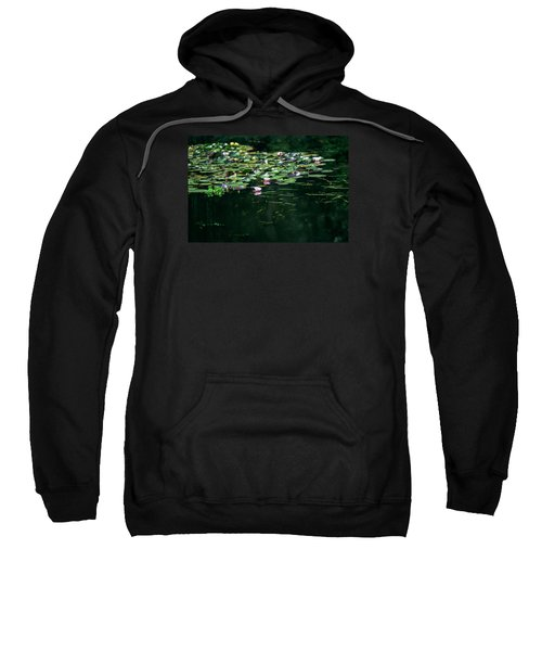 Sweatshirt featuring the photograph At Claude Monet's Water Garden 8 by Dubi Roman
