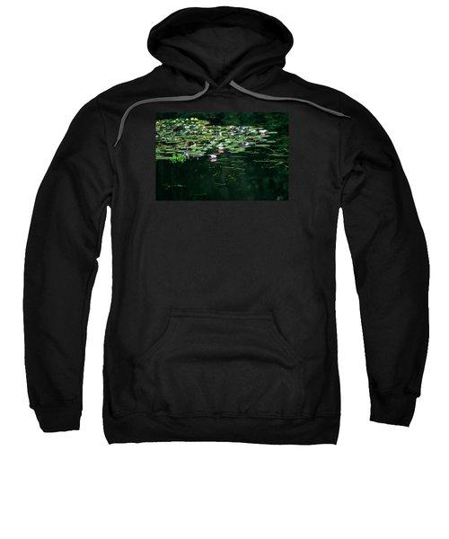Sweatshirt featuring the photograph At Claude Monet's Water Garden 8 by Dubi Roman