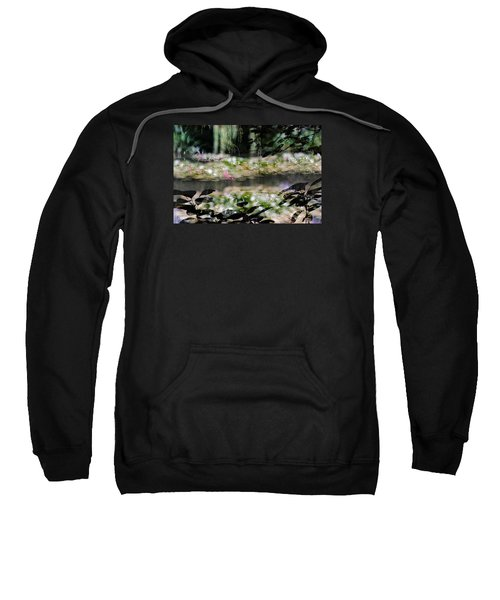 Sweatshirt featuring the photograph At Claude Monet's Water Garden 9 by Dubi Roman