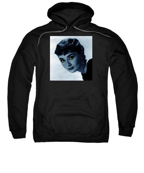 Audrey In Blue Sweatshirt