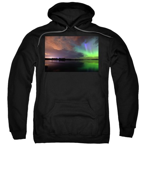 Aurora And Storm Clouds Sweatshirt