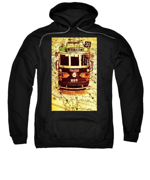 Australia Travel Tram Map Sweatshirt