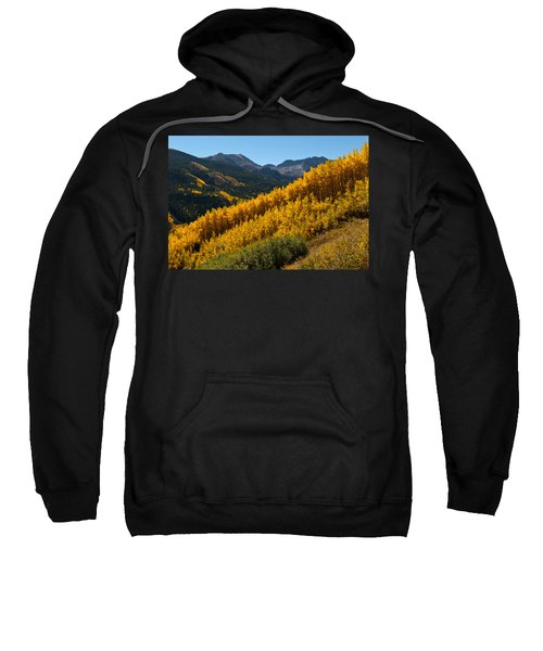 Autumn Aspen Near Castle Creek Sweatshirt