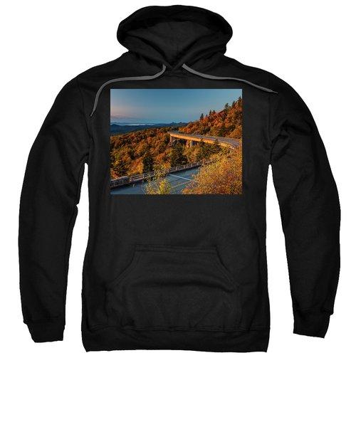 Morning Sun Light - Autumn Linn Cove Viaduct Fall Foliage Sweatshirt