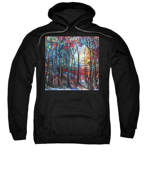 Autumn Woods Sunrise Sweatshirt
