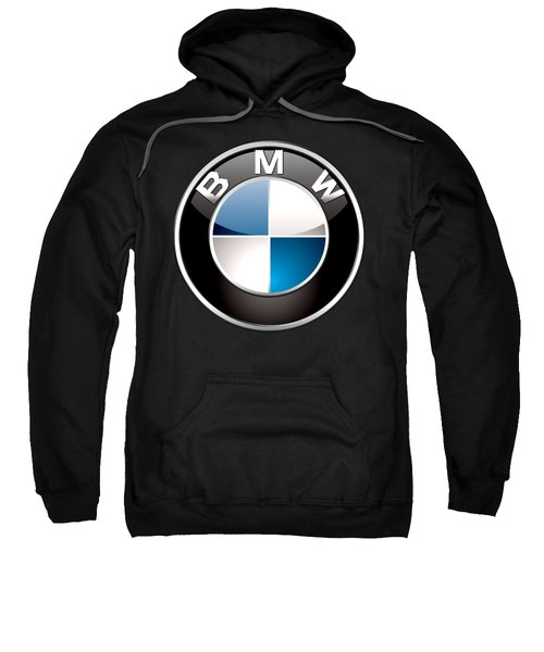 B M W  3 D Badge On Black Sweatshirt