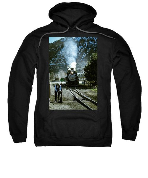 Backing Into The Station Sweatshirt