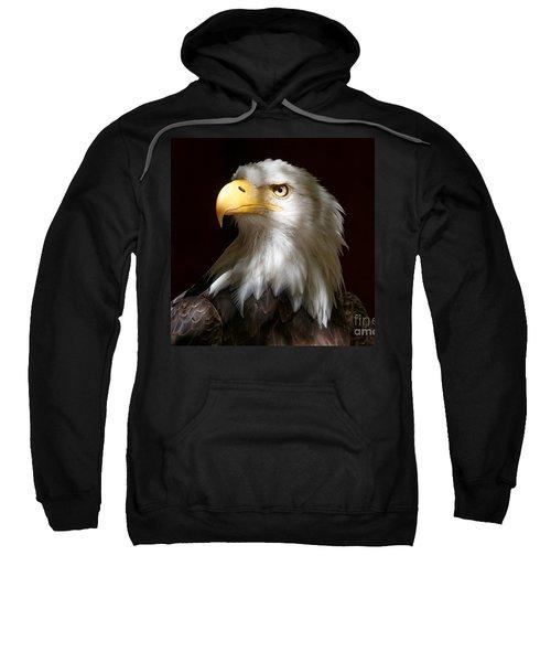 Bald Eagle Closeup Portrait Sweatshirt