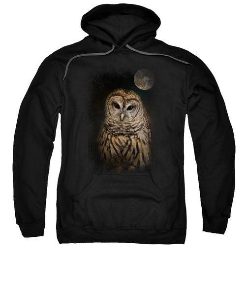 Barred Owl And The Moon Sweatshirt by Jai Johnson