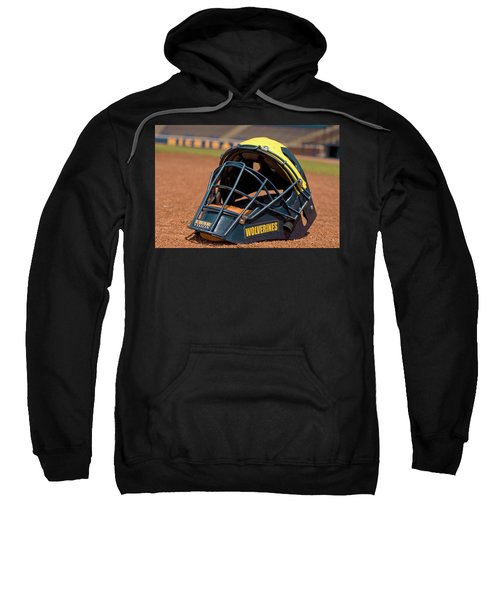Baseball Catcher Helmet Sweatshirt