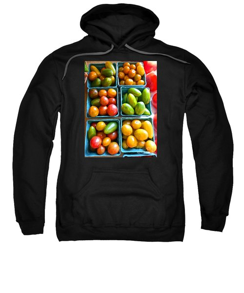Sweatshirt featuring the photograph Baskets Of Baby Tomatoes by Dee Flouton