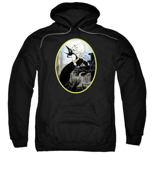 Batman Boston Terrier Caricature Art Print Sweatshirt