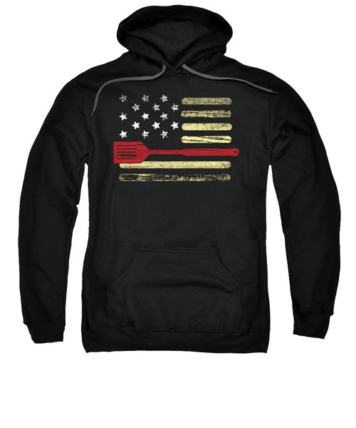 Bbq Grilling American Flag 4th July Gift Independence Day Sweatshirt
