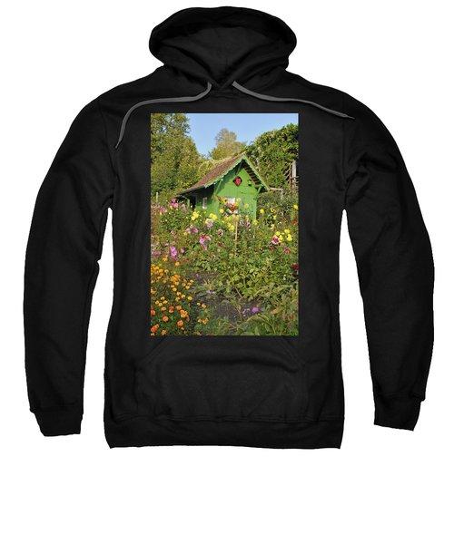 Beautiful Colorful Flower Garden Sweatshirt