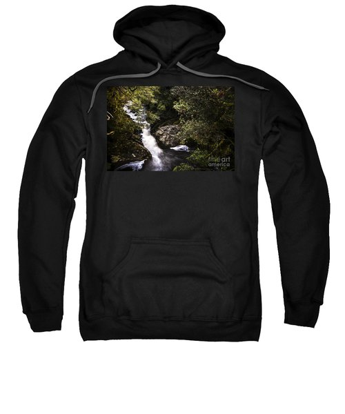 Beautiful Nature Landscape Of A Flowing Waterfall Sweatshirt
