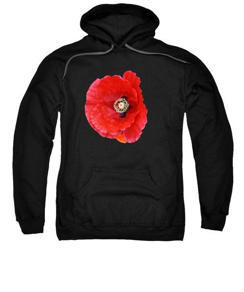 Beautiful Red Poppy Papaver Rhoeas Sweatshirt