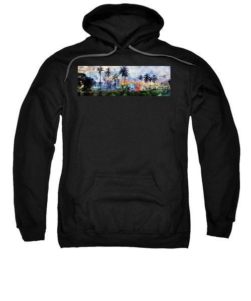 Beautiful South Beach Watercolor Sweatshirt by Jon Neidert