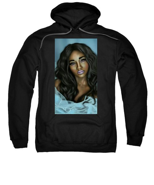 Beauty In Black Sweatshirt by Pat Carafa