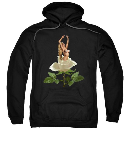 Beauty Of The White Rose Sweatshirt