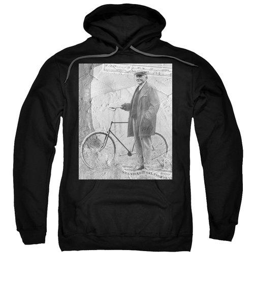 Bicycle And Jd Rockefeller Vintage Photo Art Sweatshirt