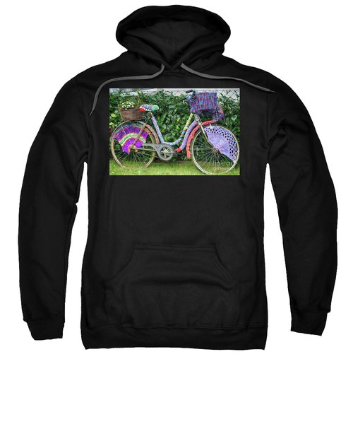Bicycle In Knitted Sweater Sweatshirt
