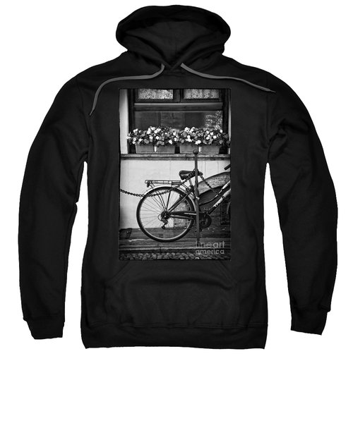 Bicycle With Flowers Sweatshirt by Silvia Ganora