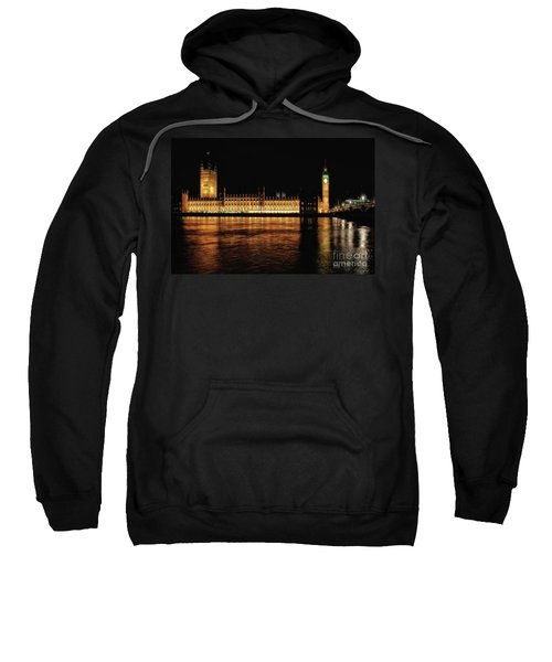 Big Ben And The Palace Of Westminster At Night Sweatshirt
