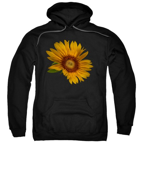 Big Sunflower Sweatshirt by Debra and Dave Vanderlaan