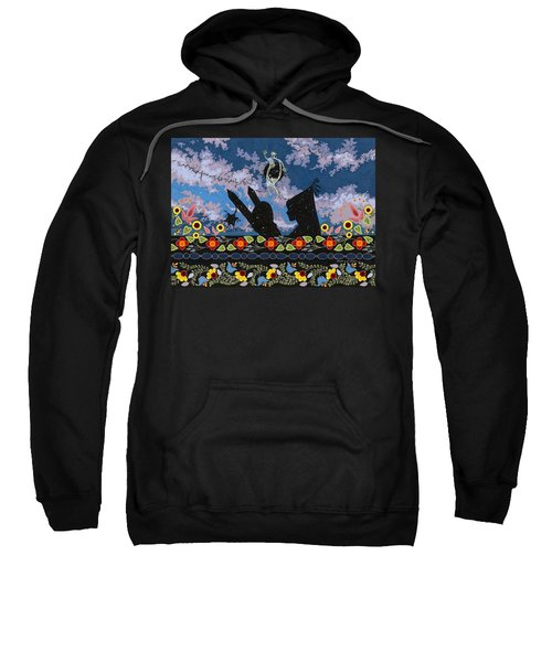 Sweatshirt featuring the painting Birth Of The Universe by Chholing Taha