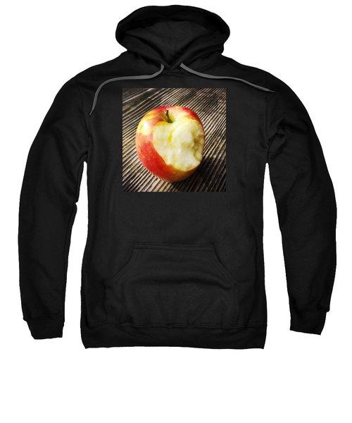 Bitten Red Apple Sweatshirt by Matthias Hauser